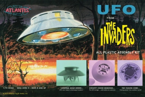 Invaders UFO 1/72 Scale Model Kit By Atlantis Models