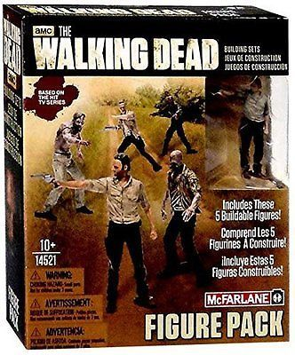 THE WALKING DEAD BUILDING SETS 5 FIGURE PACK  MCFARLANE